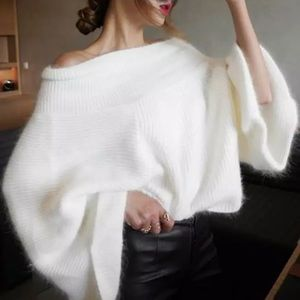 Snowflake Soft Flare Sleeve Pullover Sweater